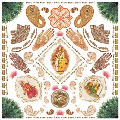 Dove of the East India Journey Rub-on Stickers (Ons Rub Wedding)