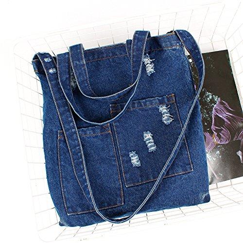 Sling Shoulder Blue Bag Causal Denim Jeans Bag Handbags Hand Women Oq5pn4gc