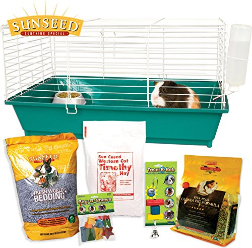 HOME SWEET HOME SUNSEED STARTER KIT GUINEA PIG - 28X17X15.5 IN by DavesPestDefense