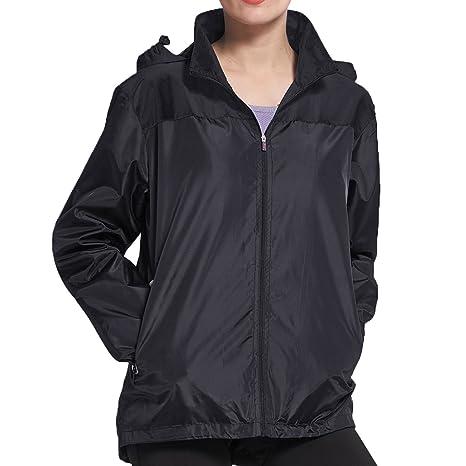 Amazon.com   BELE ROY Women Rain Jackets Lightweight Waterproof ... baf48c0b68