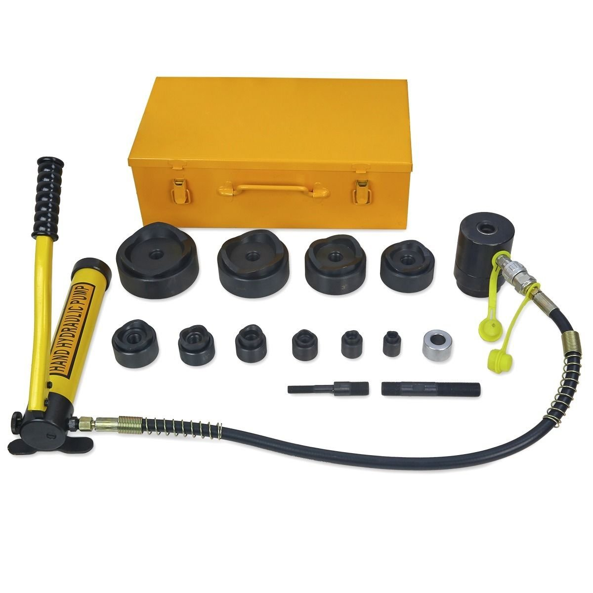 Eminentshop 15 Ton Driver Hydraulic Tool Kit w 10 Dies 1/2''-4'' Knockout Punch Set