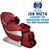 JSB Mz16 Full Body Massage Chair For Home And Office - Red (Luxury 3D Space Saving Design)