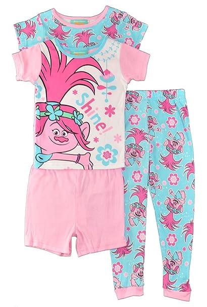 Amazon.com: Trolls para niñas 4 pc conjunto de pijama ...