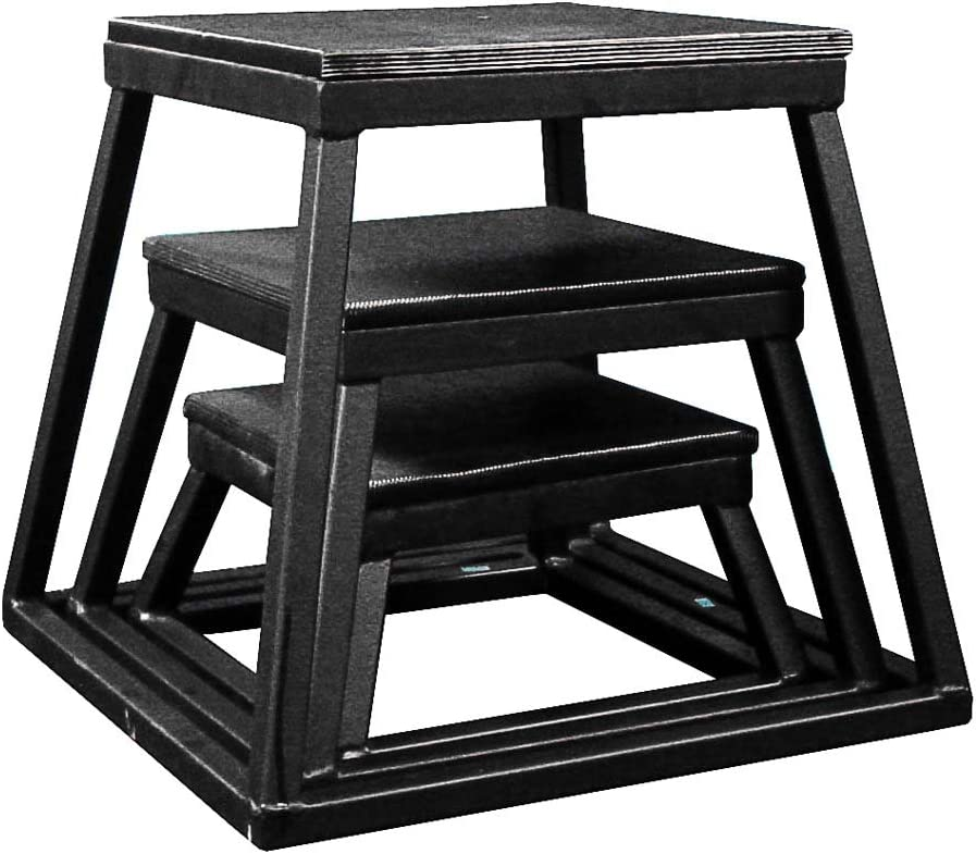 Plyometric Platform Box Set- 6 , 12 , 18 Black