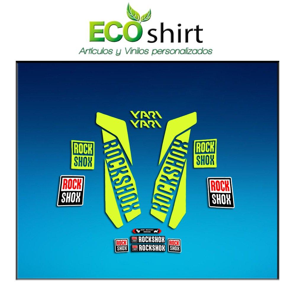 Ecoshirt S3-KYWT-J24U Aufkleber Stickers Fork Rock Shox Yari 2017 Am157 Aufkleber Decals Autocollants Adesivi Forcela Amariilo Fluor 029