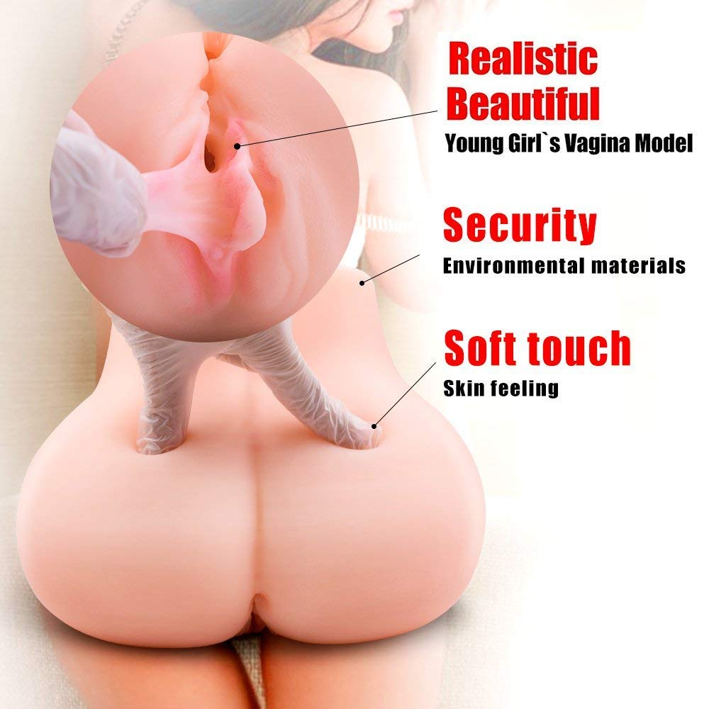 Lifelike TPE Pussycat Love doles for Men Realistic Male Adult Toys for Man Full Silcone Female Trunk TPE Dolls with 2 Tight Openings (9.5×5.5×5in) by Sunfay (Image #2)