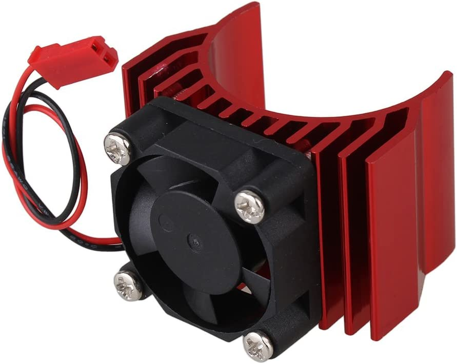 Mxfans N10095 Red Aluminum Alloy Plastic Motor heatsink with Fan for RC 1:10 Car 540 550 Motor Heat Sink