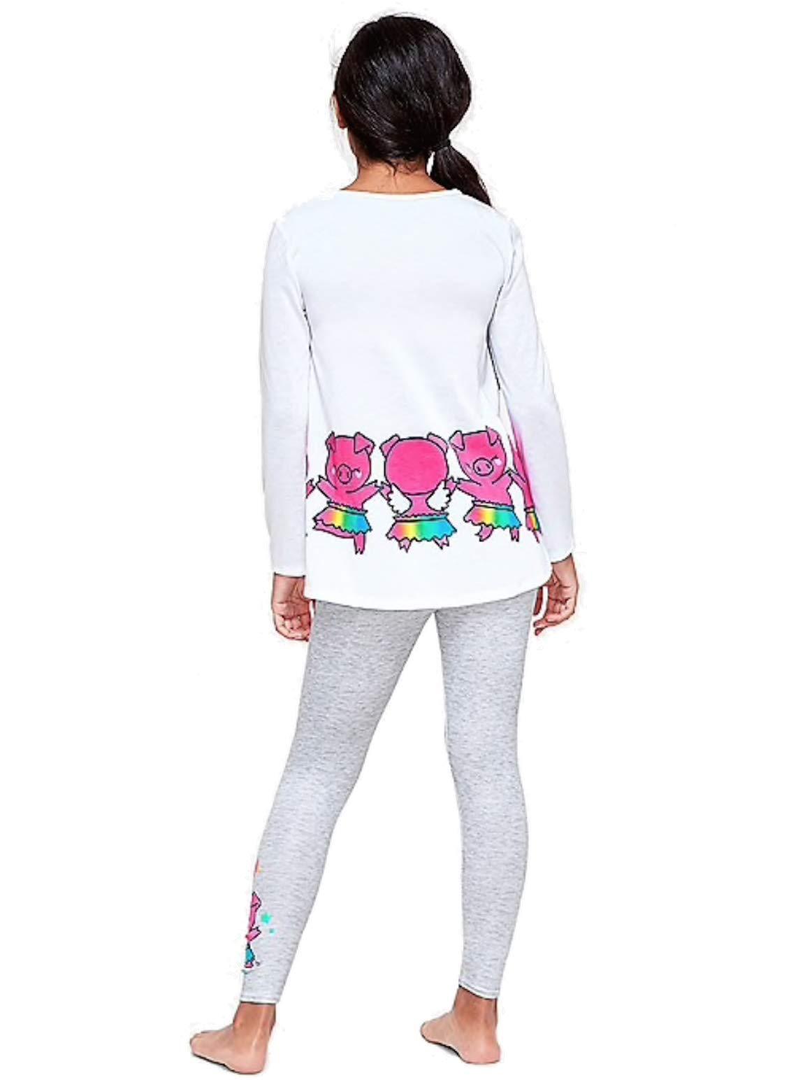 Justice Girls Nightgown, or Pajama Set Top & Pants Bundle (Pig Make Everyday Fun, 8) by Generic (Image #2)
