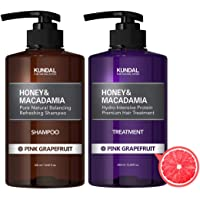 KUNDAL Honey & Macadamia Pure Natural Shampoo & Conditioner Set - Pink Grapefruit