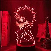 3D-illusionslampa LED nattlampa My Hero Academia Dabi Anime Boku No Hero Academia visuell skrivbordslampa bästa…