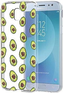 Pnakqil Funda Samsung Galaxy J5 2017, Silicona Transparente con Dibujos Diseño Slim TPU Antigolpes Ultrafina de Protector Piel Case Cover Cárcasa Fundas para Movil Samsung GalaxyJ5, Love Avocado: Amazon.es: Electrónica