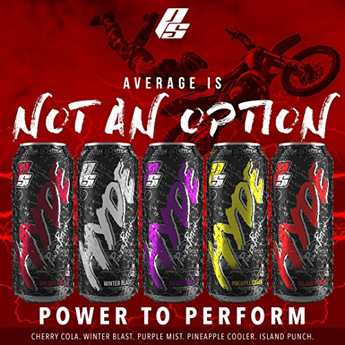 Hyde Power Potion Energy Drink, 350 mg Caffeine, Plus TeaCrine, Carnitine, BCAA, CoQ10 & Citrulline, 16 oz., Great Tasting, Carbonated, 16 count (Island Punch Flavor)