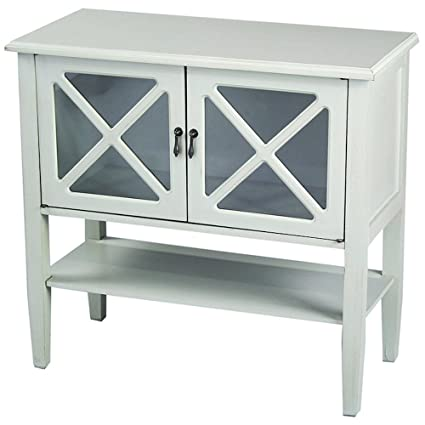 accent console cabinet entrance heather ann creations modern door accent console cabinet with pane glass insert and bottom amazoncom