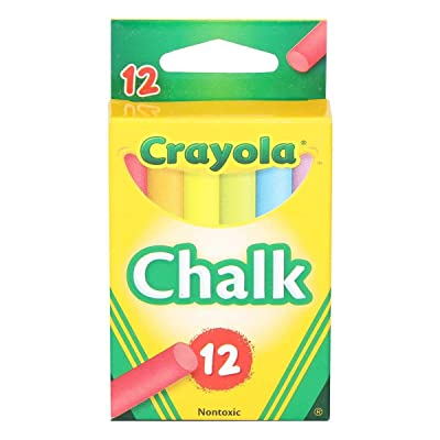 Crayola Colored Low Dust Chalk, 12Count in Each, 6 Pack: Toys & Games
