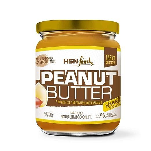 HSN Foods - Mantequilla de Cacahuete con Textura Cremosa y Suave - 100% Natural - Peanut Butter Smooth - Apto Vegetariano - Sin grasa de palma - Sin grasa ...