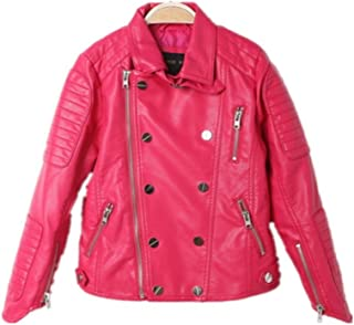 Amazon.com: Little Girls AL2803 Basic Motorcycle Jacket X-Small
