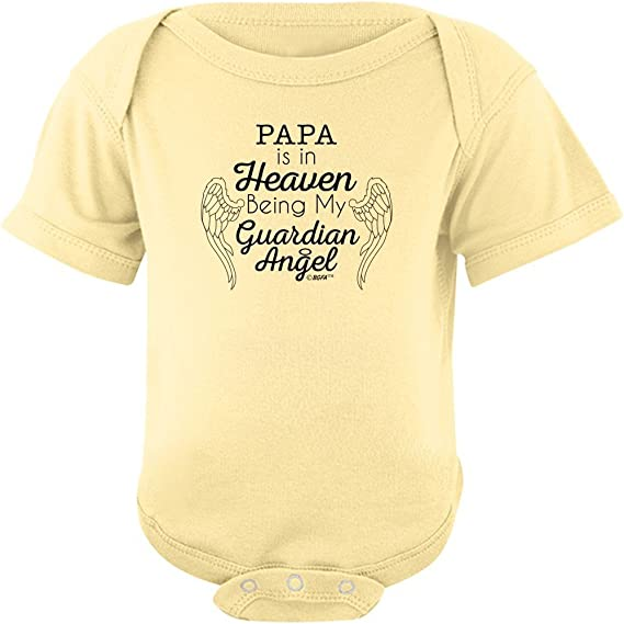 Custom Baby Shower Gift Guardian Angel My Daddy Is My Guardian Angel Baby Bodysuit Daddy In Heaven In Memory Of