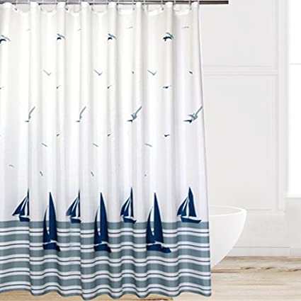 Amazon Eforcurtain Beach Pattern Waterproof And Mildew Free