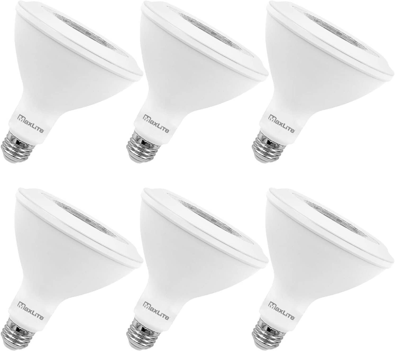 MaxLite PAR38 LED Flood Light Bulb, 90W Equivalent, Daylight 5000K, 950 Lumens, Dimmable, Wet Rated, Enclosed Fixture Rated, Energy Star, UL Listed, E26 Medium Base, 6-Pack