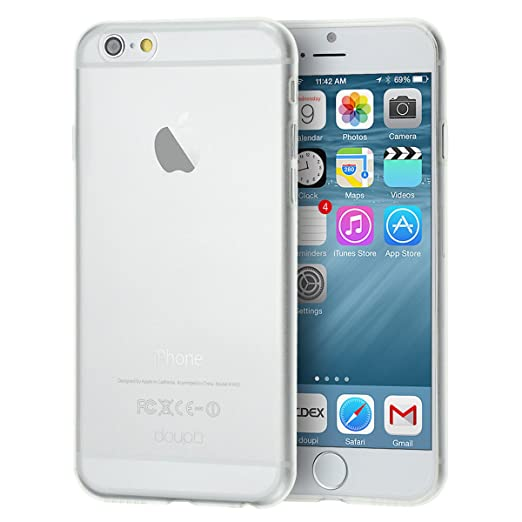 """2058 opinioni per doupi UltraSlim AllClear Case per iPhone 6 6S ( 4.7"""" ) satinato fine piuma"""