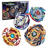 Bey Battle Burst God Evolution High Performance Set with Two 4D Launcher Stater Grip and Arena Battle Set (4 in 1