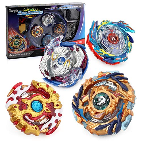 Hityblty Bey Battle Burst God Evolution Battling Top Fusion Metal Master Rapidity Fight with Two 4D Launcher Grip Set