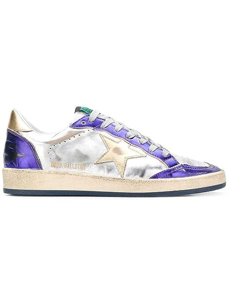 Golden Goose Mujer G33WS592O8 Plata Cuero Zapatillas: Amazon.es: Zapatos y complementos