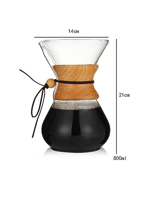 Vidrio resistente Cafetera Máquina Cafetera Espresso Coffe ...
