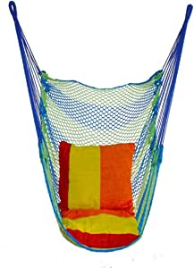 LYL-swing Nordic Style Deluxe Hammock Outdoor Indoor Garden Bedroom Hanging Chair for Child Adult Swinging Single Safety Chair