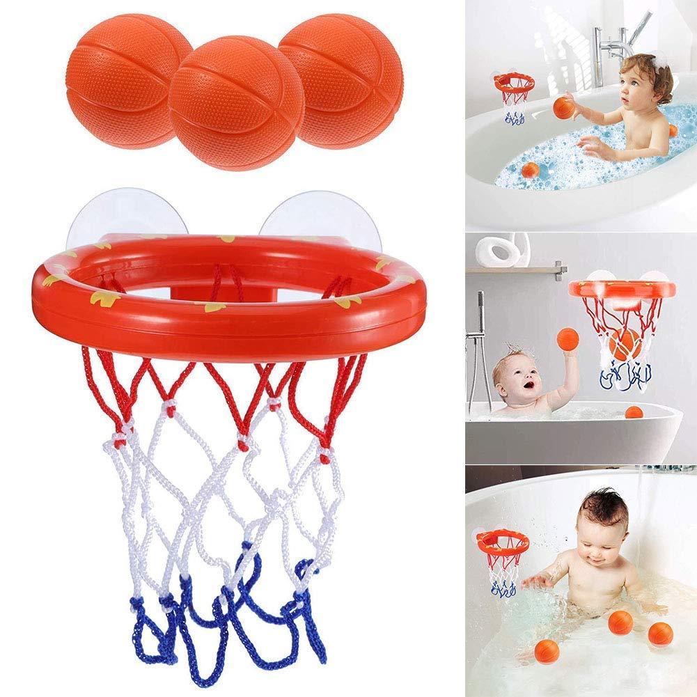XUNKE Giocattoli da Bagno Gioco per Vasca da Bagno Adatto a Ragazzini e Ragazzine Divertente Canestro da Basket da Bagno per Bambini e Neonati con 3 Palline