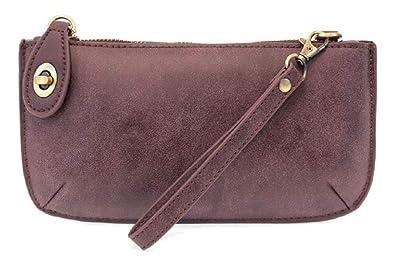 08eadc322707 Mini Crossbody Wristlet Clutch (Aubergine Lux)  Handbags  Amazon.com