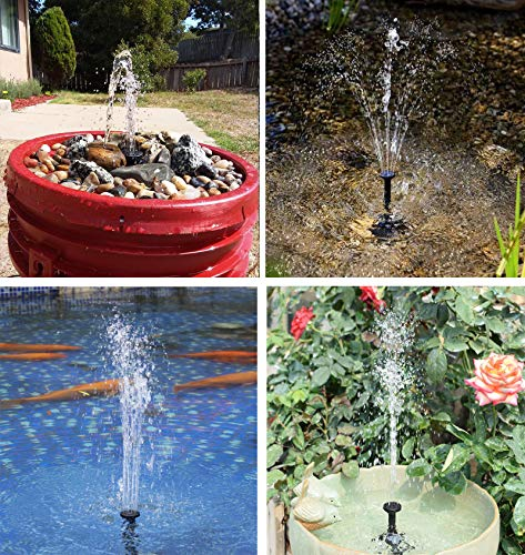 Lewisia 1.8W Solar Water Fountain Pump for Pool Koi Pond Bird Bath Garden Decoration Solar Powered Submersible Water Pump Kit