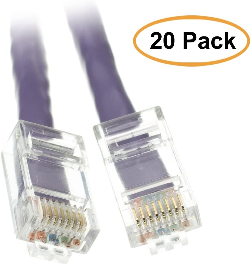 Green 3 Pack ACL 25 Feet Cat6 RJ45 Bootless Ethernet Patch Cable