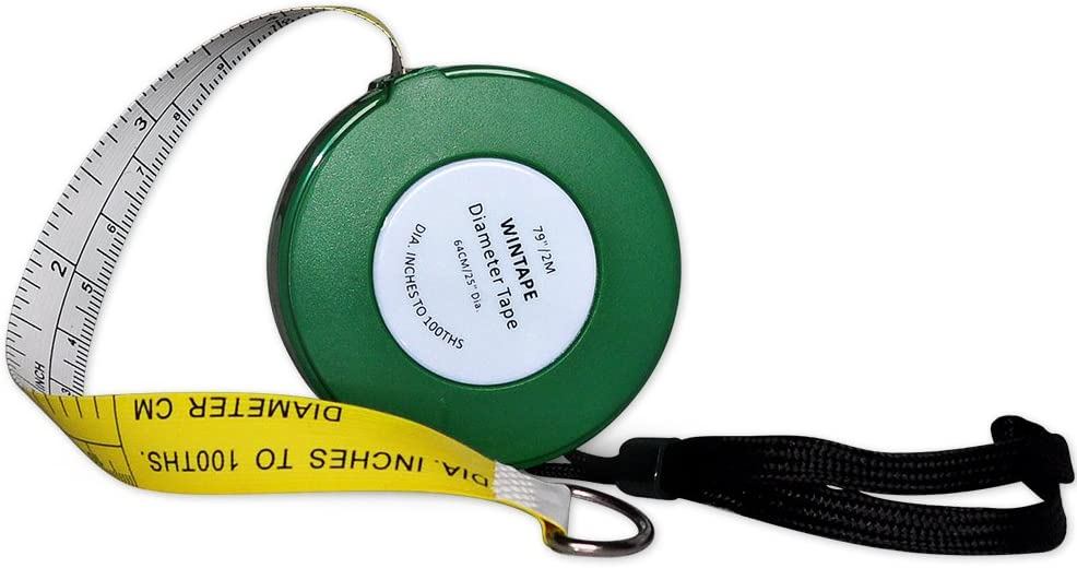 Wintape Cm and Inches to 100ths Executive Diameter Pi Engineer's Tape Measure (Green)