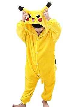e55723c2801a2 UDreamTime Enfant Unisexe Ensemble de Pyjama motif animaux Costume Pikachu  XXL