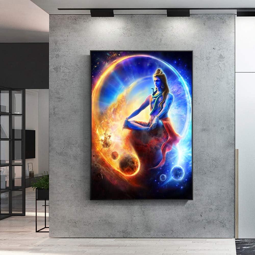 baodanla Sin Marco Shiva Hindú Religioso Arte de la Pared Pintura ...