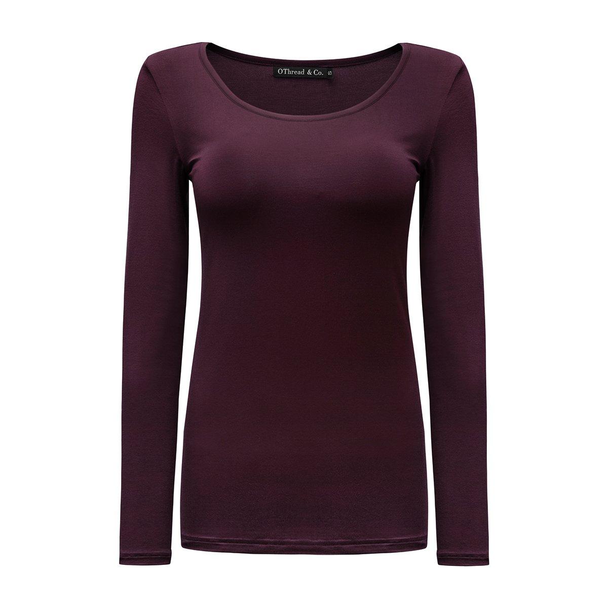 OThread & Co. Women's Long Sleeve T-Shirt Scoop