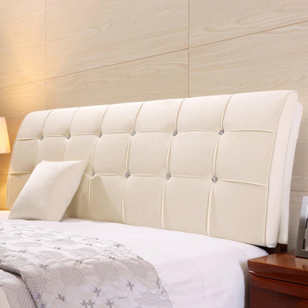 QIANGDA クッション ベッドの背もたれ ヘッドボードマット ビッグバック ベッドサイドソフトバッグ 寝具 ラジアン単位 ダブルベッドルーム ソリッドカラーの5種類、 6サイズ オプション ( 色 : White rice , サイズ さいず : 180 x 9 x 62cm ) B079Z85XR7 180 x 9 x 62cm|White rice White rice 180 x 9 x 62cm