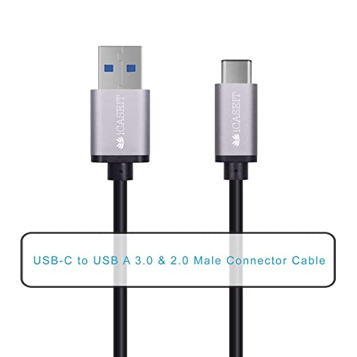 38 opinioni per iCASEIT USB Type C (USB-C) to USB 3.0 A Male Cable for USB Type-C Devices