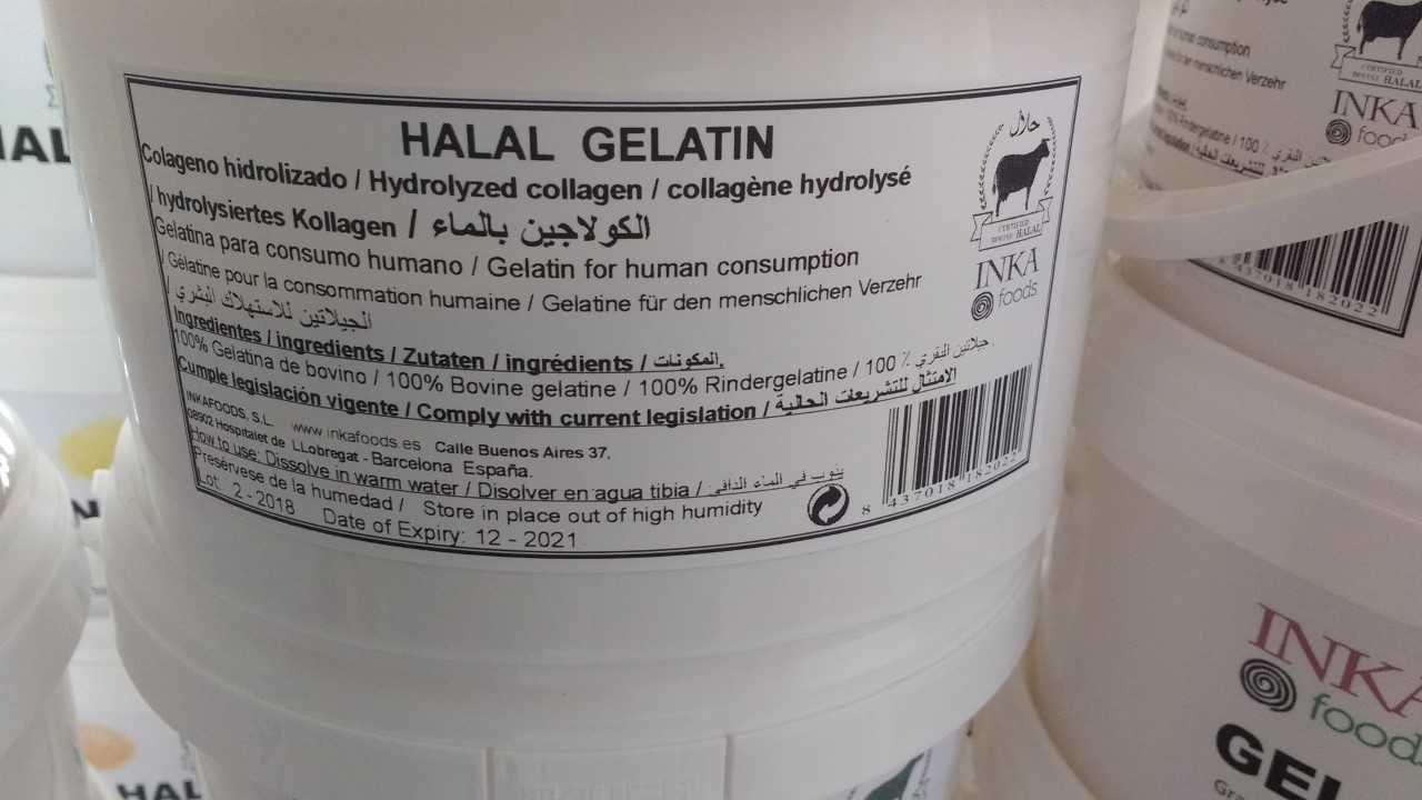 Gelatina granulado HALAL, 250 bloom, sabor neutro - 1kg: Amazon.es: Alimentación y bebidas