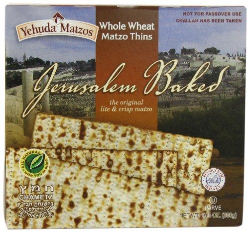 Yehuda Matzo Thins Matzo Thins Whole Wheat, 10.5-Ounce (Pack of (Matzo Thins)