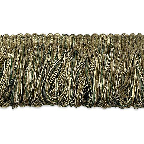 Expo International Chenille Loop Fringe Trim, 10 yd, Sage/Multicolor