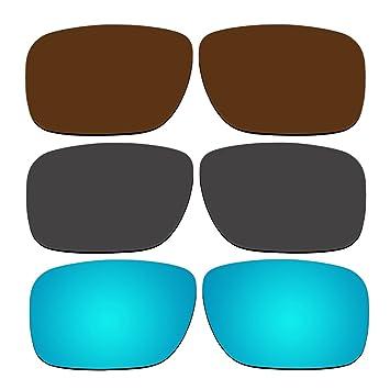 3 pares lentes polarizadas de recambio para Oakley Holbrook (gafas de sol Pack P6