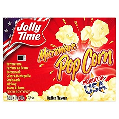 Jollytime Microondas Mantequilla 300 g de palomitas de maíz ...
