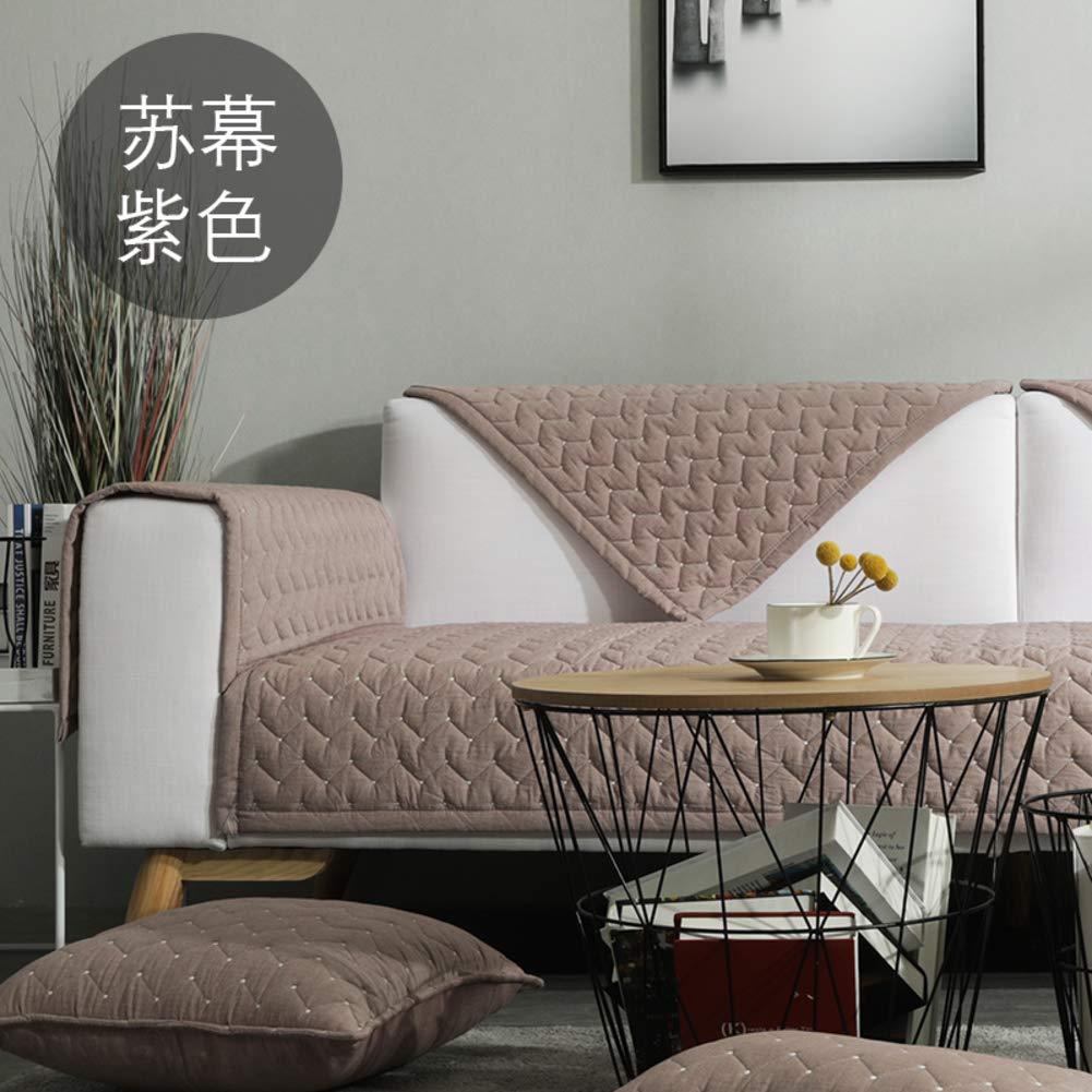 AFAHXX Minimalismus Anti-rutsch Gesteppter Sofahusse sofaüberwurf,Heavy 100% Baumwolle Sofabezug für Sofa Dick Sofa Überwürfe Sitzkissen-B 90x210cm(35x83inch)