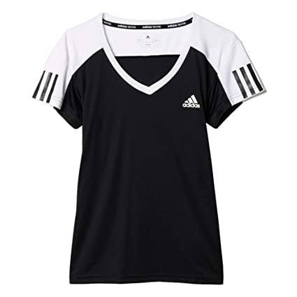 Adidas Club tee - Camiseta para Mujer, Talla 2XS, Color Negro/Blanco
