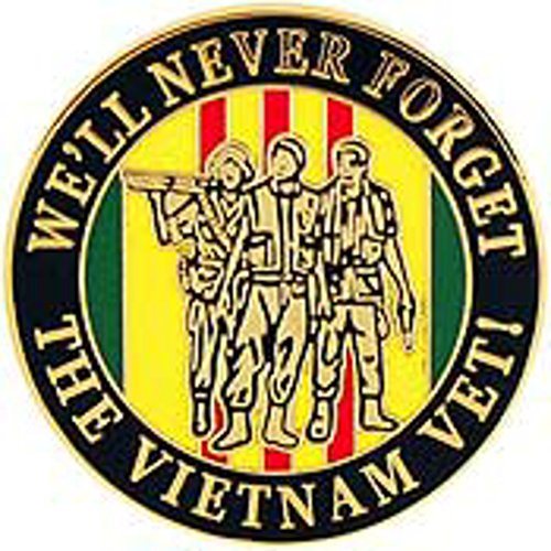 (We'll Never Forget Vietnam Pin Military Collectibles for Men Women)
