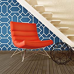 Modern Geometric Repositionable and Removable Peel and Stick Wallpaper