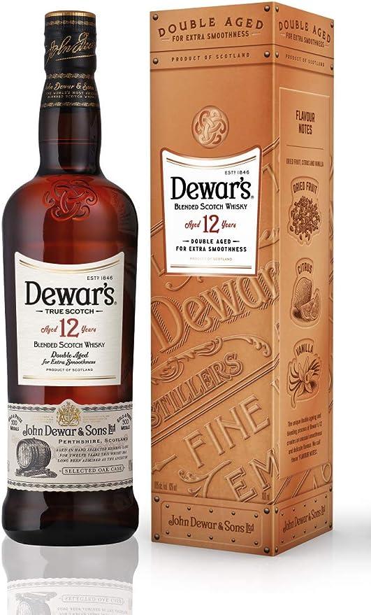 Dewars 12 Whisky - 700 ml: Amazon.es: Alimentación y bebidas