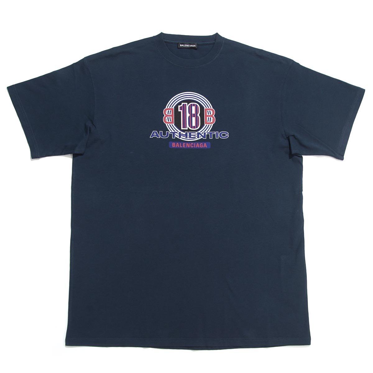 (バレンシアガ) BALENCIAGA クルーネック Tシャツ/CAPSULE [並行輸入品] B07DLHSS34 L|ネイビー ネイビー L